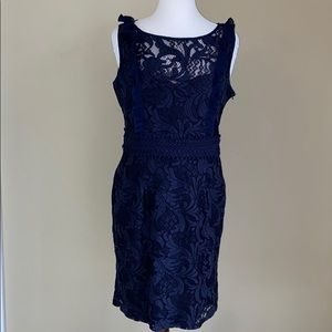 Romeo and Juliet Couture navy lace dress